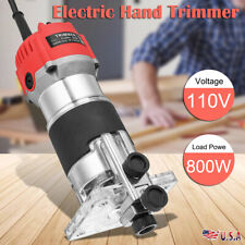 110V 800W 1/4'' Electric Hand Trimmer Wood Laminator Router Joiners Tool Set
