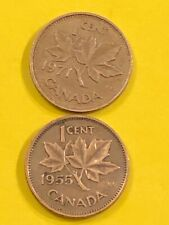 CANADA 1 C 1971 1955 CIRCULATED FREE SHIPPING