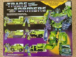 Transformers Constructicon  Devastator 6 Figure Set Complete Box G1 1985