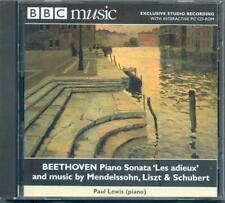 BEETHOVEN & SCHUBERT PIANO SONATAS + MENDELSSOHN & LISZT / PAUL LEWIS - BBC CD