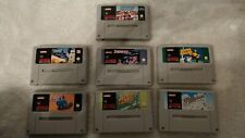 7 SNES Games.Starwing,Pilotwings,Desert Fighter,Exhaust Heat,Super Soccer,Tennis