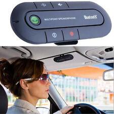 Slim Magnetic Bluetooth Handsfree in Car Wireless Speaker Phone Kit Visor Clip