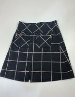 BNWT WOMENS DOROTHY PERKINS SIZE UK 6 BLACK MIX CHECK CASUAL SHORT A LINE SKIRT
