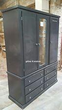 HANDMADE AYLESBURY (DARK GREY) 6 DRAWER 3 DOOR WARDROBE NOT FLAT-PACK!