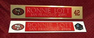 RONNIE LOTT  NAME PLATE FOR HELMET / FOOTBALL/ CARD /JERSEY / PHOTO