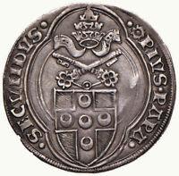 STATO PONTIFICIO - Grosso Pio II - Moneta di estrema rarità RRRRR - Non censita