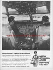 PAKISTAN INTERNATIONAL AIRLINES - Original 1966 ADVERTISEMENT. Free UK Post