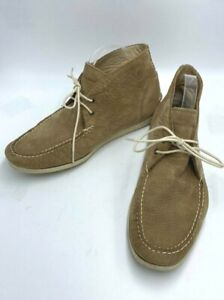 Frye Mens 9 Mason Chukka Tan Suede Leather Boots Shoes Lace Up