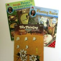 Lot 3 Tole Painting Books Priscilla Hauser Plaid 9654 9488 Painting on Tin 6201