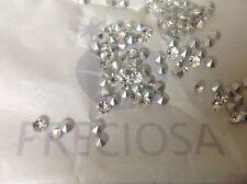 Perline sfuse di strass argento