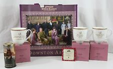 2015 Downton Abbey Complete Set 3 Tea Cup Bag w Family Photos New Tea Canister