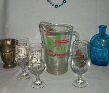 Heileman's Special Export Beer Pitcher and 3 Glasses