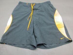 Nike Size XL(34) Mens Gray/Orange Swim Surfing Lined Board Shorts 784