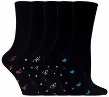 Sock Snob 5er Pack Damen Bunt Muster Schwarz Gepunktet und Herz Baumwolle Socken