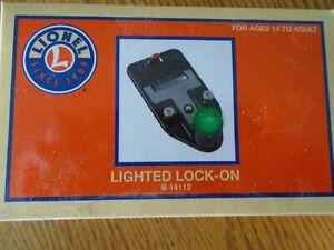 O GAUGE SCALE LIONEL LIGHTED LOCK ON 6-14112 MODEL RAILROAD TRAIN