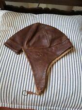Antique Leather Flying Hat Helmet to restore