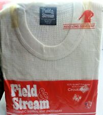 Field and Stream Long Thermal Knit Underwear Top Shirt Vtg Nwt Sealed Estate