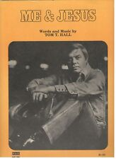 "TOM T. HALL ""ME & JESUS"" SHEET MUSIC-1971-EXTREMELY RARE-NEW-MINT CONDITION!!"