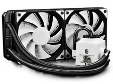 DEEPCOOL CAPTAIN 240 WH AIO CPU Liquid Cooler, 2*120mm PWM Fan (AM4 Compatible)