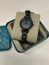 NWT Fossil Women's Carlie Mini Three-Hand Black Stainless Steel Watch ES4690