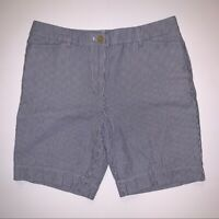 Talbots The Perfect Short Striped Blue and White Shorts Women's Size 6