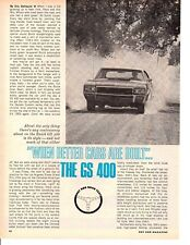 1968 BUICK GS 400/340 HP ~ ORIGINAL 3-PAGE ROAD TEST / ARTICLE / AD