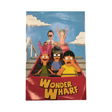 Bob's Burgers Wonder Wharf Roller Coaster Poster Fox TV 24 x 36 Gift Cartoon