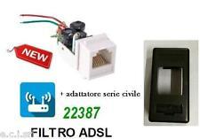 FILTRO ADSL RJ11 DA INCASSO FRUTTO PER BTICINO LIVING LIGHT NERA
