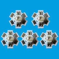 5PCS 3W RGB Color High Power LED Light Emitter 4pins with 20mm Star Heatsink