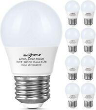 8-Pack A15 LED Ceiling Fan Light Bulbs 60 watt Equivalent, 5000K Daylight E26 Me