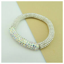 NEW ARRIVAL 50MM SHAMBALLA STYLE CRYSTAL CLAY TUBE BEADS STRETCH BRACELET