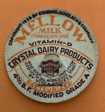Vintage milk cap CRYSTAL DAIRY PRODUCTS Mellow Milk