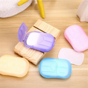 100PCS Portable Disposable Hand Washing Tablet Travel Carry Toilet Soap Paper