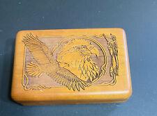 Wood Carved Eagle Box