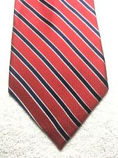 EAGLE MENS TIE RED WITH NAVY BLUE STRIPES 3.5 x 60 NWT