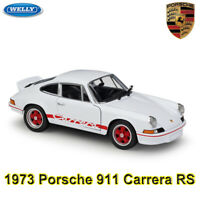 WELLY 1:24 Scale Diecast Model - 1973 Porsche 911 Carrera RS Racing Sports Car