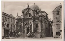 Croatia; St Blaises Church Dubrovnik RP PPC Unposted c 1930's, St Blasius Kirche