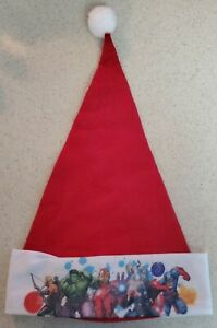 "Marvel Comics Avengers Christmas Holiday Santa Hat 17"" Tall"