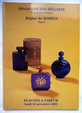 """RARE CATALOGUE DE VENTE """"FLACONS A PARFUM"""" ANCIENS / NOVEMBRE 2001 / COLLECTION"""