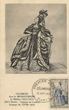 CARTE POSTALE MAXIMUM PREMIER JOUR CELIMENE LE MISANTHROPE DE MOLIERE 1953