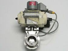 """El-O-Matic 2"""" Air Actuated Butterfly Valve Tri-Clamp"""