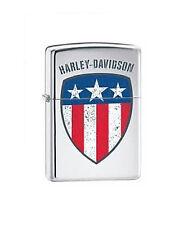 Zippo Harley Davidson Flag, 24868, +Wick +Flints