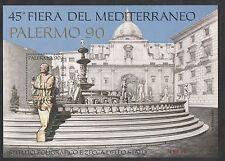 FOGLIETTO IPZS 45° FIERA DEL MEDITERRANEO PALERMO 1990 NUMERATO BELLO