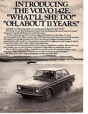 1971 VOLVO 142E  ~  GREAT ORIGINAL PRINT AD