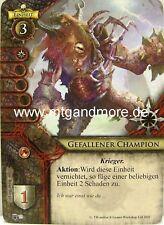 Warhammer Invasion - 1x Gefallener Champion  #073