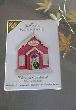 Hallmark Keepsake 2011 Welcome Christmas with Box Ornament Special Edition