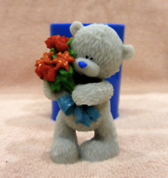 Large 3D Teddy Bear Rose Silicone Mould Chocolate Soap Clay Cake Silicon Mold