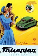 Tatra car Poster 1951 automobile auto advert ca 8 x 10 print prent poster