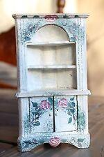 Antique Doll Furniture Corner Hutch American Folk Art