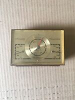 Vintage Airguide Thermometer Barometer Humidity brass & plastic Weather Station